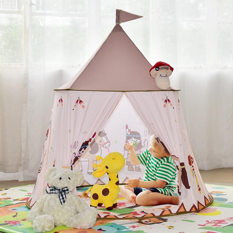 Enfants Facile Bâtiment Sans Fond tente Intérieure Bébé Famille Indie maison de jeu Indien tente de yourte