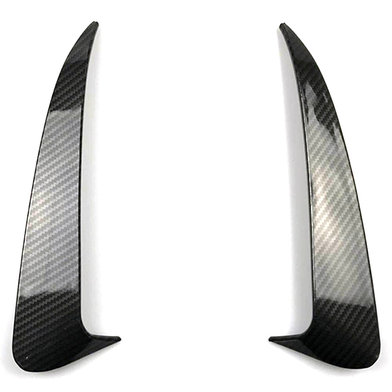For Benz C Class W205 C43 C63 Amg Carbon Fiber Look Rear Bumper Air Vent Cover 2014-2019 2Pcs image