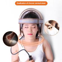 Manual Portable Pneumatic Vertebra Tractor Cervical Neck Shoulder Back Body Multifunctional Cervical Massage Device Health Care недорого