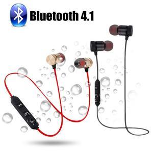 Image 5 - ポータブルイヤホンワイヤレス Bluetooth インナーイヤースポーツランニングハイファイステレオ磁気デバイスとマイクハンズフリー通話電話用