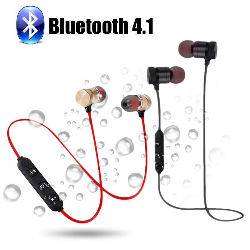 Image 5 - Portable Earphones Wireless Bluetooth Earbuds Sport Running HIFI Stereo Magnetic Devices With Mic Hands free Call For Phones-in Bluetooth Earphones & Headphones from Consumer Electronics