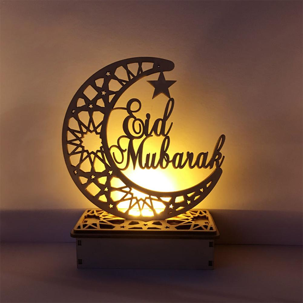 LED Wooden DIY Light Festival Palace Decorative Lights For Muslim Islamic Eid Mubarak Ramadan Festival Decoration Holiday Lights