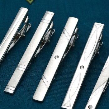 Los hombres clásico Simple Corbata de Metal Clips de corbata pin dorado de plata de lujo Formal trajes de fiesta de boda, Collar de barra de cierre Pince Cravate