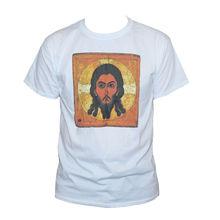 купить JESUS RUSSIAN ICON  Orthodox Christian Art Graphic Printed Tee Mens/WomenMen Tee Shirt Tops Short Sleeve Cotton Fitness T-Shirt онлайн