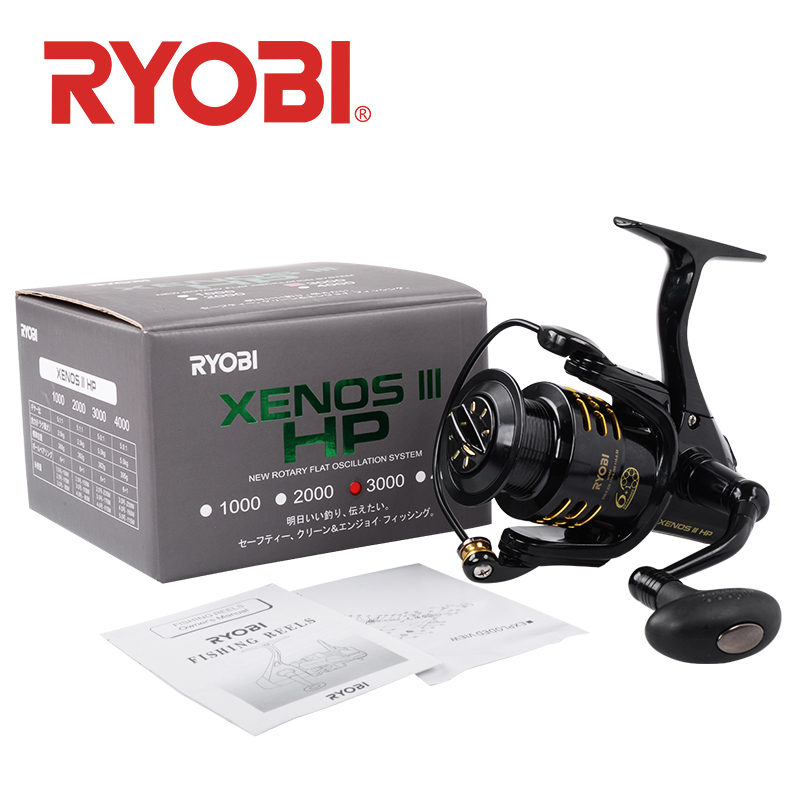 RYOBI XENOS III HP Spinning Fishing Reels Saltwater Wheel 6+1BB Gear Ratio 5.1:1/5.0:1 Anti-corrosion Stainless Steel Bearing