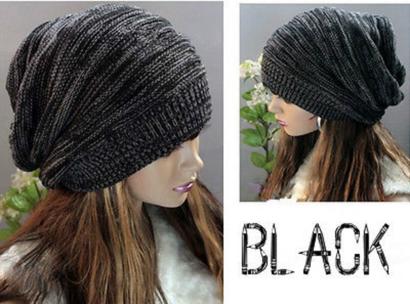 Unisex Knitted   Skullies     Beanies   Women Men Winter Warm   Beanies   Casual Black Hat