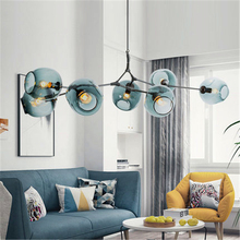 Nordic Pendant Lights Lighting Edison Bulb Hanging Lamp Bedroom Restaurant Droplight Modern Vintage Pendant Lamps Glass Lighting pendant light for restaurant 5 8 heads beanstalk dna molecules vintage pendant lamp nordic iron pendant lighting glass shades