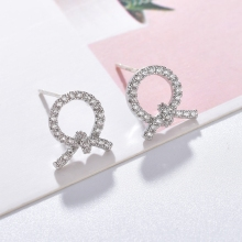 2019 New Fashion AAA Cubic Zirconia Women Earrings Charming Gold Silver Color Bowknot Stud Jewelry Gift