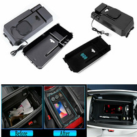 For Mercedes Benz E Class 2016 18 LHD Durable Car Wireless Charging Storage Box