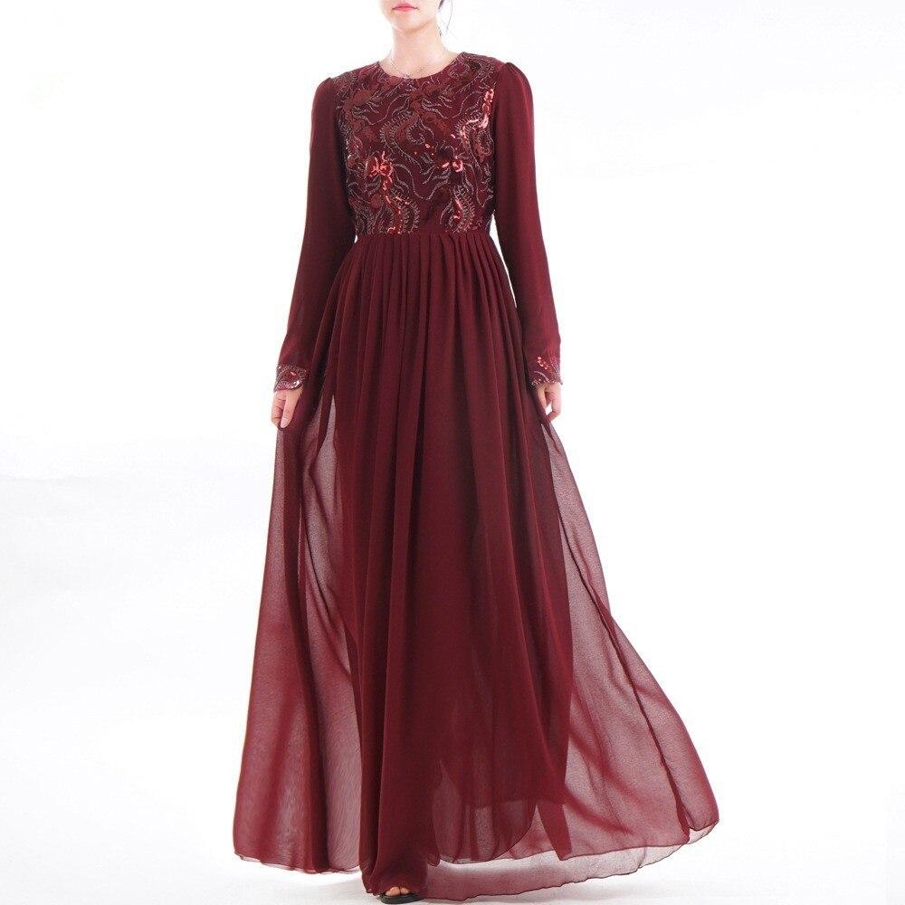95dd4957 Dubai Abaya Party dresses Sequins Embroidery Abaya Lace Muslim Maxi Dress  Jubah Kimono Ramadan Arab Islamic Prayer Long Robes