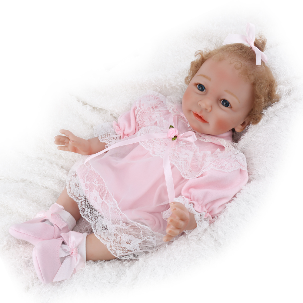 Reborn Baby Doll Artist handmade newborn girl lifelike realistic princess babe boneca curly mohair christmas gift