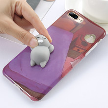 KISSCASE 3D Animal Phone Case For iPhone 6S 6 7 8 Plus Soft Silicone 5 5S SE Cute Cartoon Funda Capa