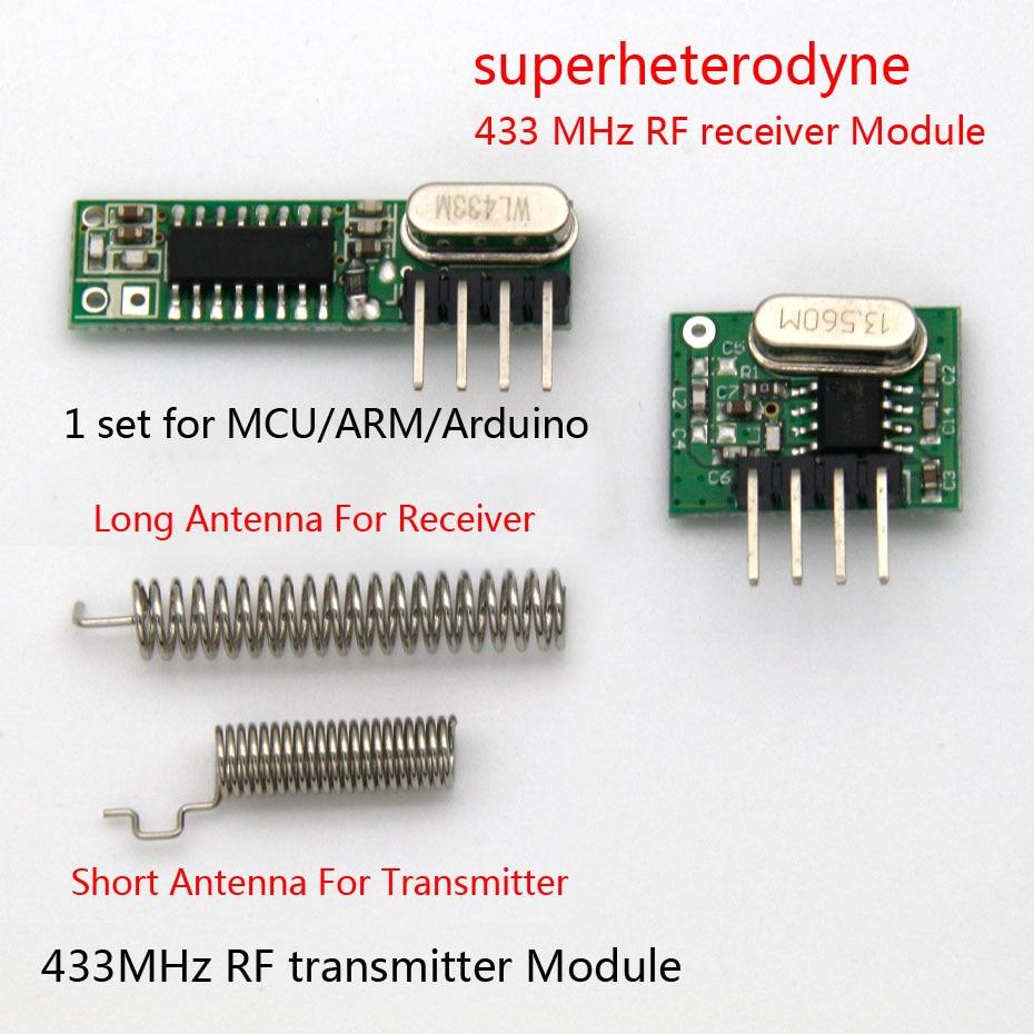 HOT SALE] 1Set superheterodyne 433Mhz RF transmitter and