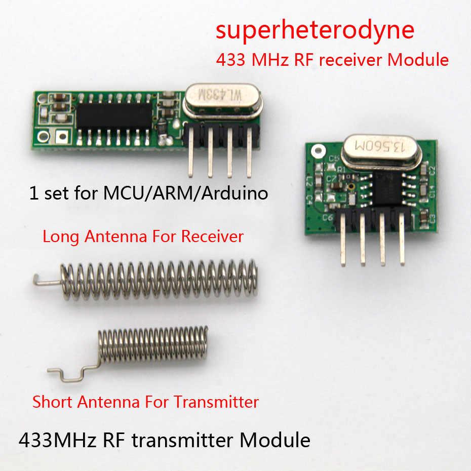 1 Set Módulo Rf 433 Mhz Receptor Y Transmisor Superhetero Kit Con Antena Para Arduino Uno Diy Kits 433mhz Control Remoto