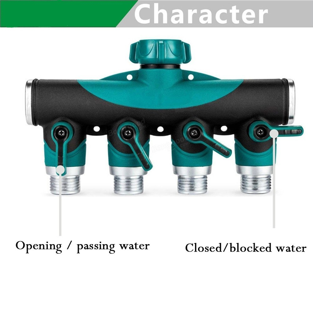 3 4 quot Hose Splitters Irrigation Adapter 4 ways Gardening Irrigation Water Tap Hose Connectors Agricultural Watering Accessories in Garden Water Connectors from Home amp Garden