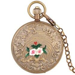 Halskette Kette Mechanische Taschenuhr für Männer Horizontale Phasen Mond Sonne 24-Stunde Skeleton Automatische-selbst-wicklung frauen Uhren