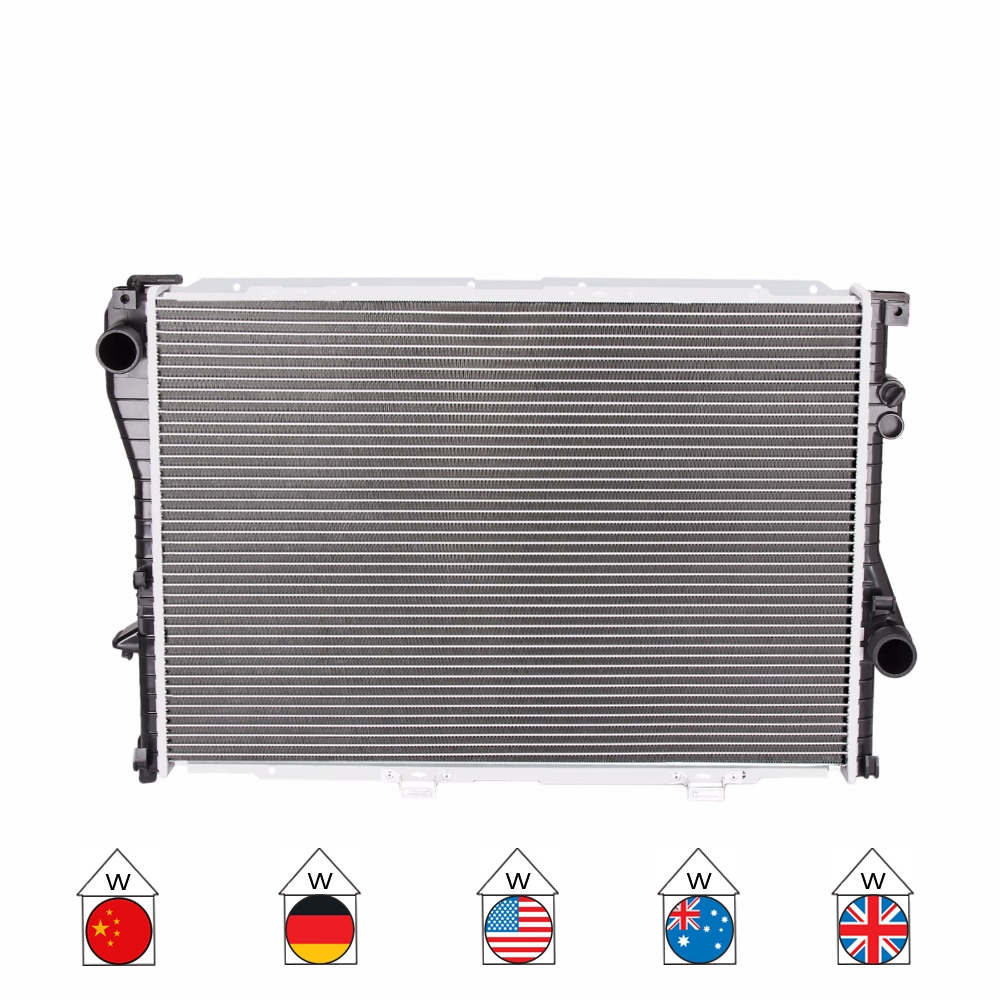 Car COOLER WATER RADIATOR For BMW 5 Series Touring E39 7 Series E38 740 97 MT M62 1711.2.246 009 011 012 Manual Transmission NEW