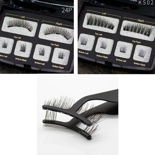 5d087fcaa97 Magnetic False Eyelashes Sticky-free Handmade Black Man-made Fiber Set False  China Beauty Eyelashes