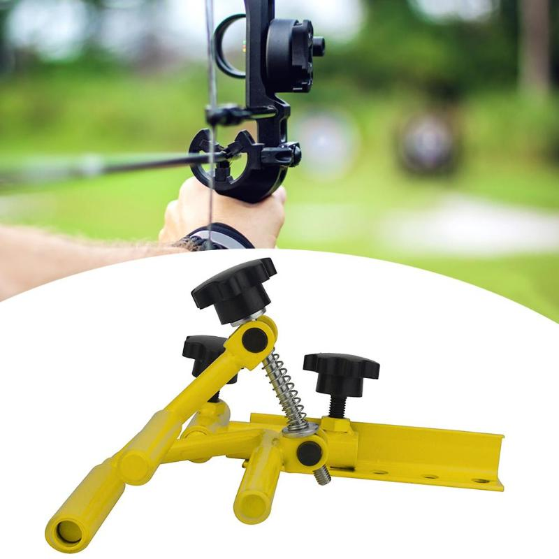 Stainless Steel Adjustable Archery Parallel Bow Vise Support Bow stand Archery Sport Competition Equipment for Hunting