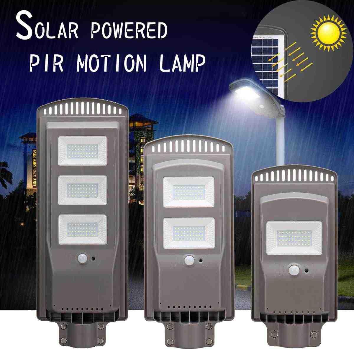 Светодиодный Сенсор Панели солнечные Мощность Уолл-стрит свет 20/40/60 W движения PIR лампа Водонепроницаемый IP67/50 см стержень для крепления для наружного освещения