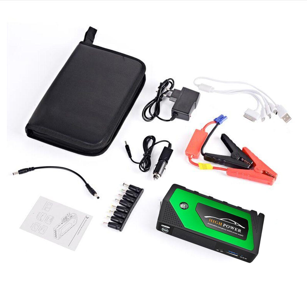 Démarreur de saut de voiture Portable 4 Ports USB démarreur de saut de voiture chargeur portatif batterie chargeur dispositif de démarrage pour les Diesels à essence de téléphone - 5