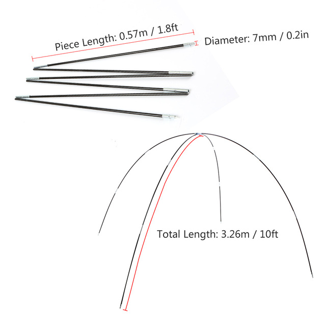 Camping Glass Fiber Poles for Tent