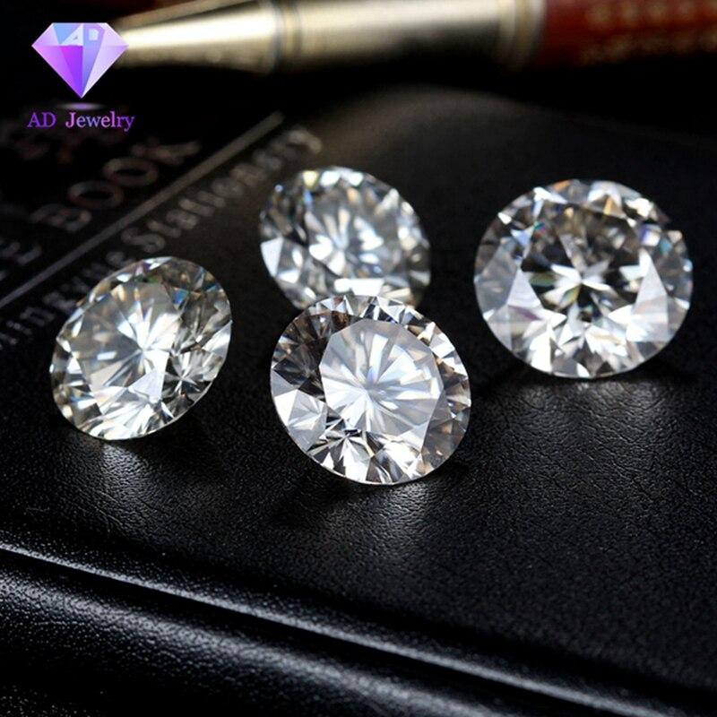 1 Carat/sac GH couleur 1.50 MM Moissanite pierre diamant lâche moissanite pierre