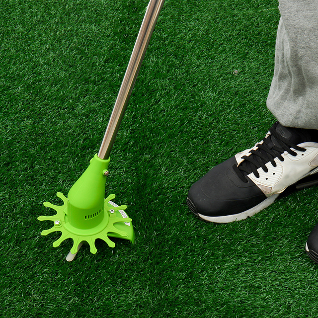 Portable Cordless Electric Grass Trimmer Multifunction Handheld Cutter Lawnmower Steel Blade Garden Power Tools Rechargeable