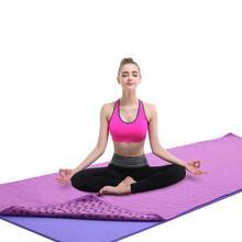Нескользящий хлопковый Коврик для йоги, коврик слива в горошек, смоляное полотенце, впитывающее пот полотенце для спорта, фитнеса, упражнений, пилатеса