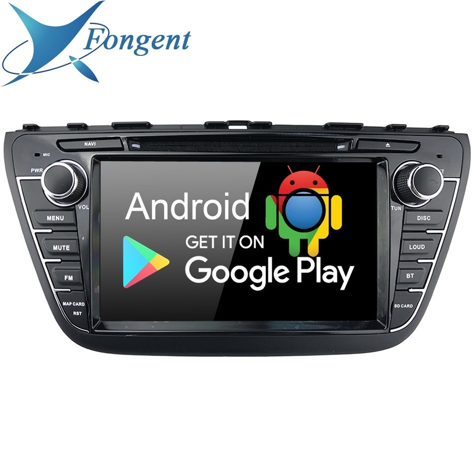 "For Suzuki SX4 S-Cross 2013 2014 2015 2016 Car 8"" IPS Android 9.0 DVD Multimedia Auto Radio GPS Audio 4Gb+64Gb 8-Core RDS Map"