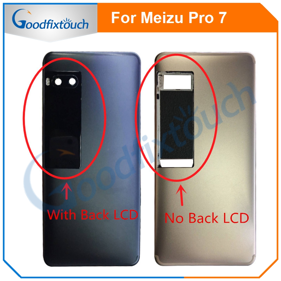 For Meizu Pro 7 Battery Cover Back Cover Case With Secondary Display Back Housing For Meizu Pro7 Rear Housing With Back LCD