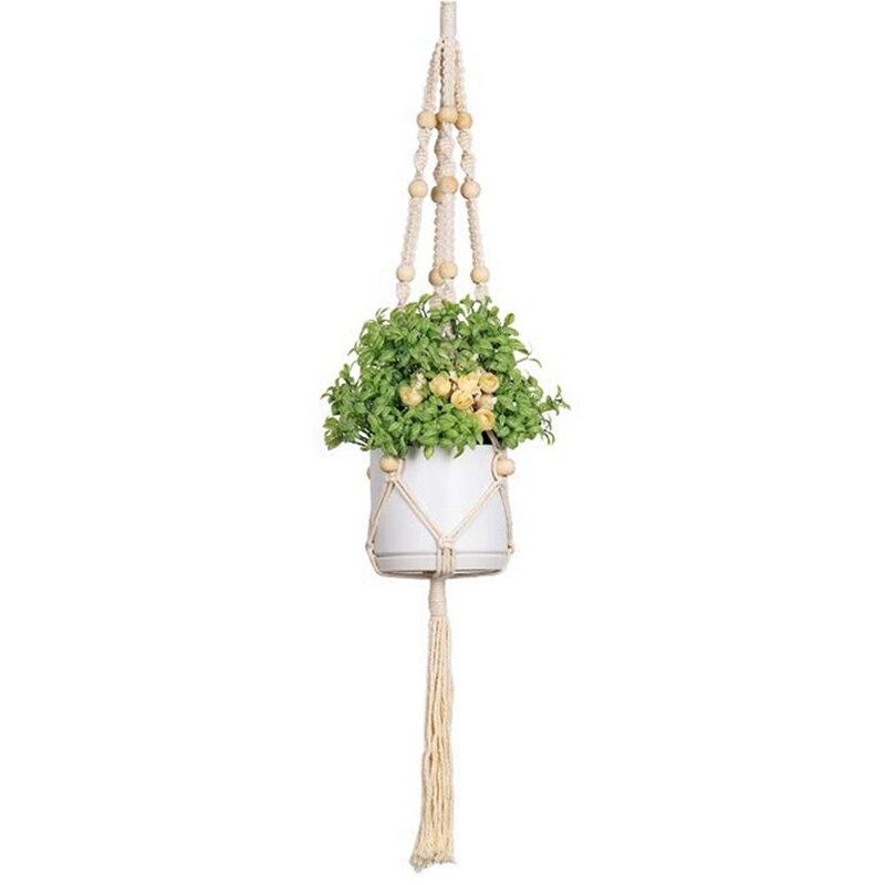 Attent Macrame Plant Hangers, Grote Indoor Outdoor Wall Opknoping Planter Mand Bloempot Houder, Boho Home Decor 4-in-1 In Verschillende D Een Effect Produceren Voor Een Heldere Visie