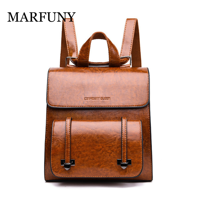 High Quality Leather Women Backpacks Vintage Simple Design PU High Quality School Bags for Teenager Girl Rucksack Shoulder Bags bee backpack