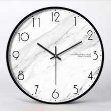 New 12 Inch 3D Big Wall Clock Minimalist Nordic Modern Design Personality Fashion Mute Large Size For Home