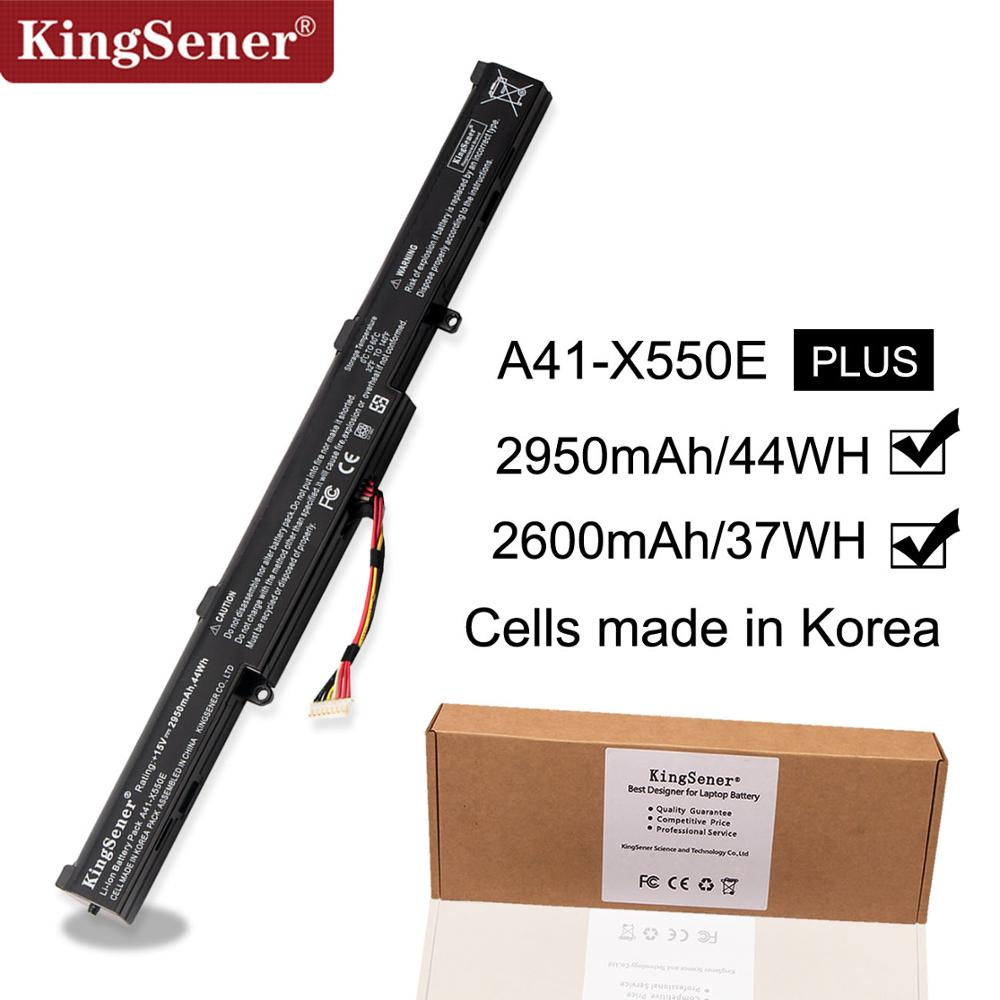 KingSener Korea Cell A41-X550E Laptop Battery For ASUS X450 X450E X450J X450JF X751M X751MA X751L X750JA A450J A450JF A450E