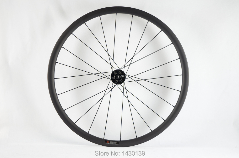 Image 4 - Newest 700C 30mm Road bike matt UD full carbon fibre bicycle wheelset carbon clincher rims 791 792 disc brake hubs Free shippingBicycle Wheel   -