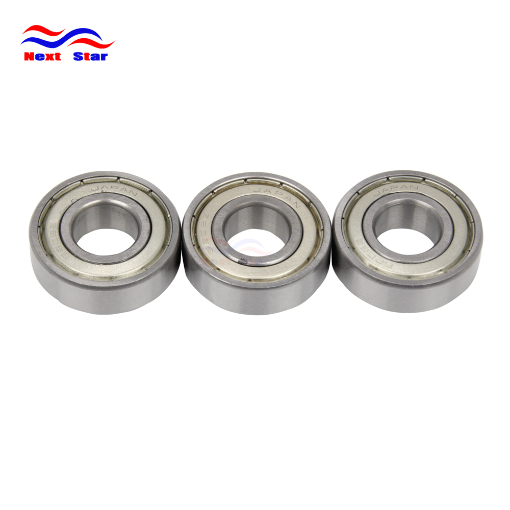 Motorcycle 3 Pcs Rear Roller Bearings For KAWASAKI SUZUKI KX100 1998 2015 KX80 1998 1999 2000 KX85 2001 2015 RM100 RM 100 2003