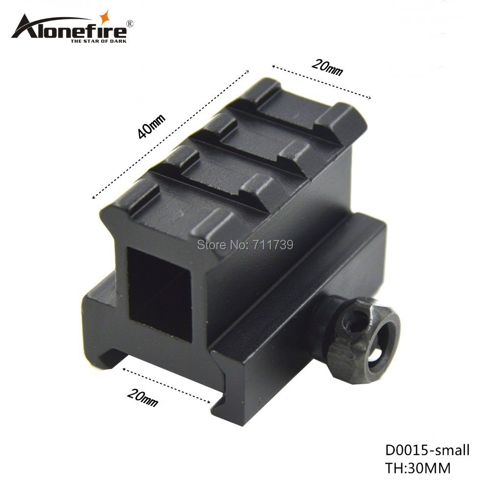 AloneFire D0015-Small Scope Rail Mount High Profile Riser Mount With 3slots Scope Mount Extend 20mm Dovetail Extend Rise Mount