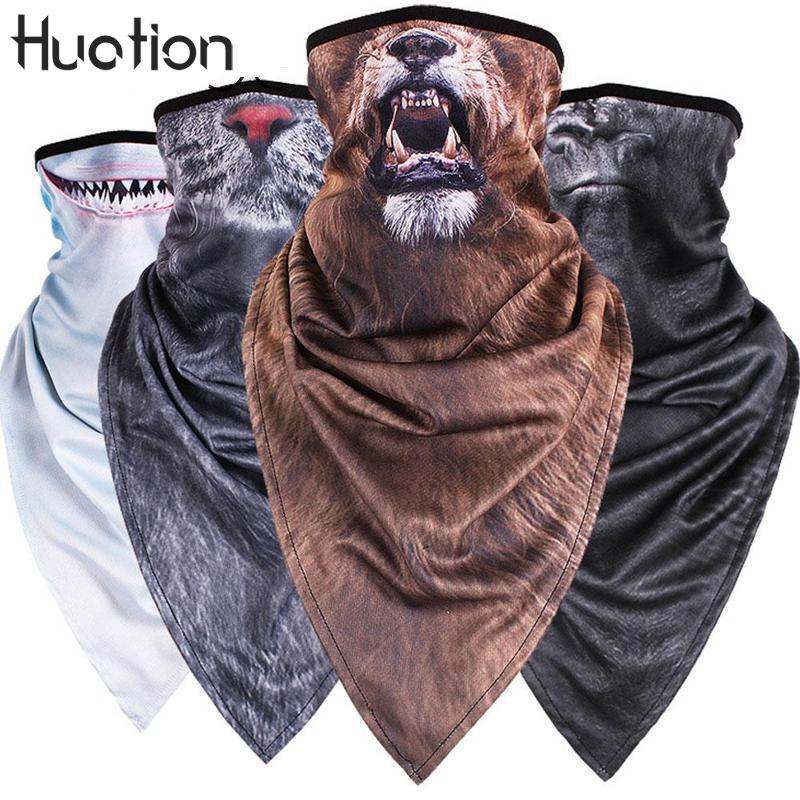 Huation Creative Animal Tiger Neck Half Face Mask Tube Bicycle Balaclava Scarf Winter Snowboard Headband Headscarf Bandana(China)