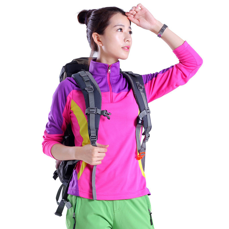 Female Spring Summer Sunscreen Ventilation Clothes Woman Long Sleeve Camping Hiking Travel Jogging Sprots Quick Drying Shirts