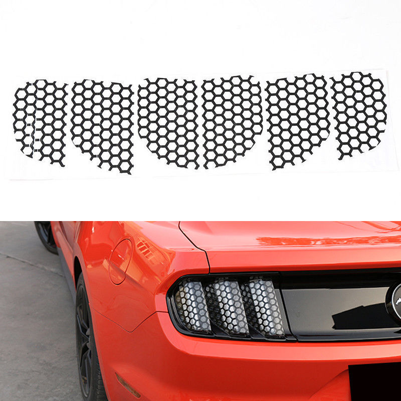 Car & Truck Exterior Mouldings & Trim 6PCS Rear Tail Light Stickers Cover Honeycomb Style For Ford Mustang 2015-2017 Motors