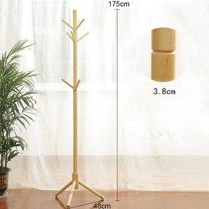 Image 2 - Вешалка из цельной древесины напольная вешалка для пальто, креативная домашняя мебель, вешалка для одежды, деревянная вешалка для сушки спальни