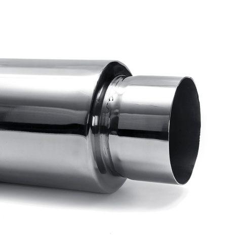 silenciador de escape universal para carro cano escape com saida 76mm