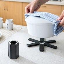 Модные кухонные принадлежности теплоизоляция ABS Складная кастрюля колодки Подставка-тарелка настольные колодки-007