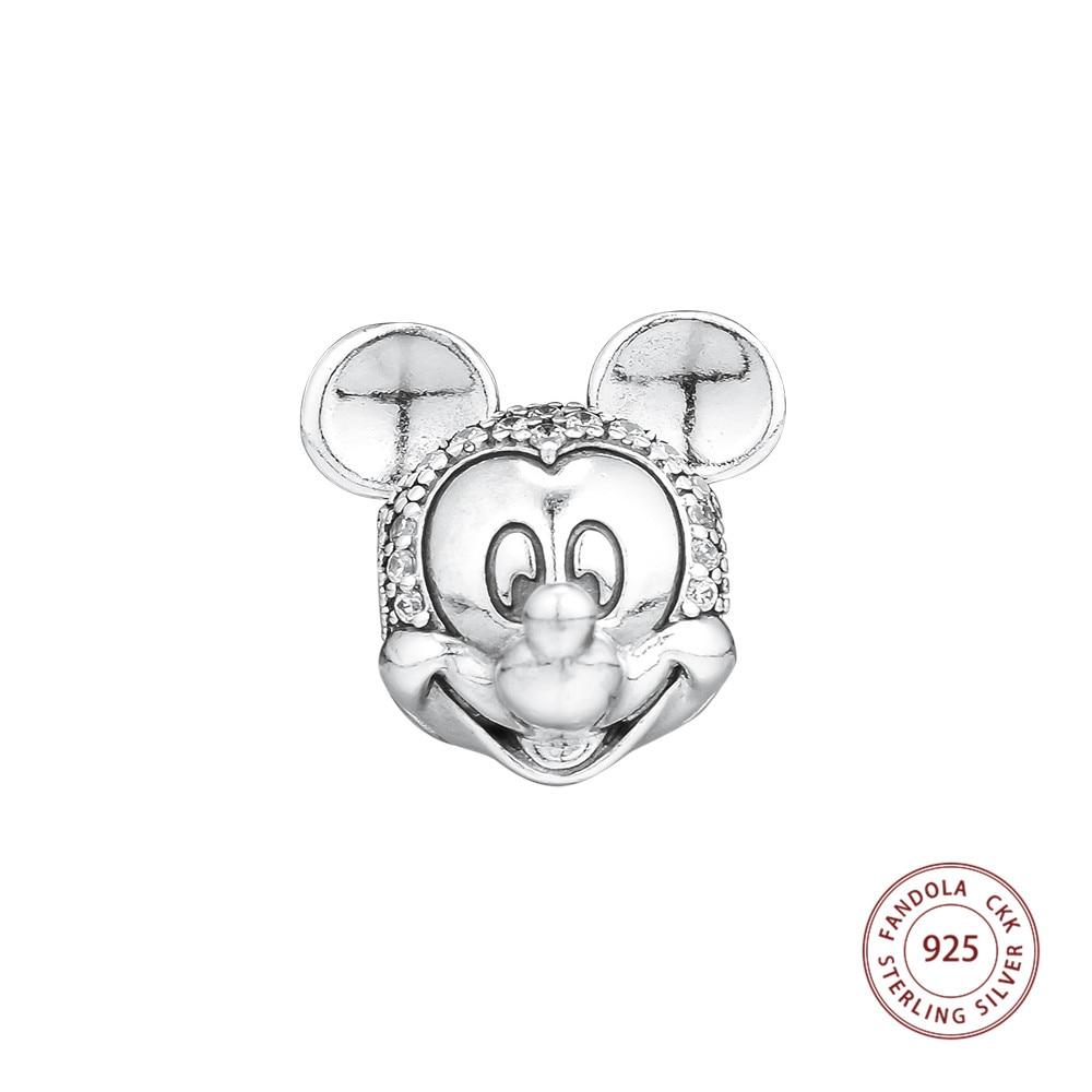 100% 925 Sterling Silber Maus Schimmernde Porträt Clip Perlen Für Schmuck Herstellung Passend Frauen Charms Silber 925 Original Armband