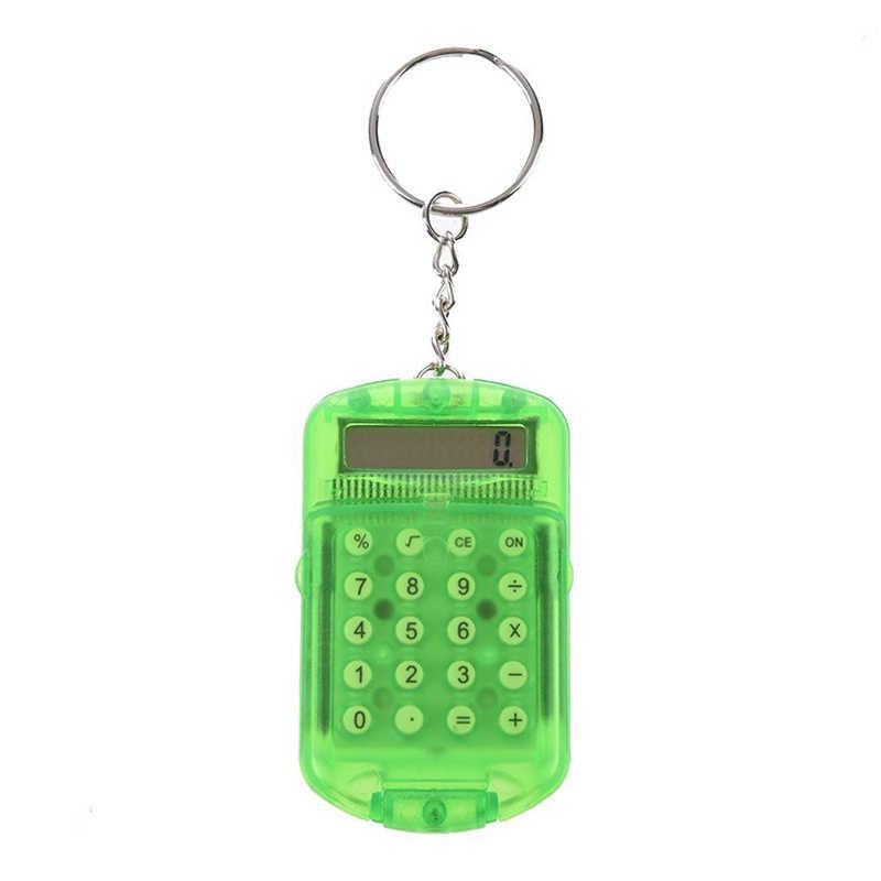 Mini funda de ABS creativa Mini calculadora electrónica de mano llavero estudiante papelería maestro contador herramienta de cálculo