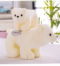 Kawaii 1pc 25/30cm Cute Polar Bear Plush Toy Stuffed Soft White Bear Doll Toy For Kids & Girls Baby Appease Birthday  XMAS Gift rainbow teddy bear kawaii cute molang potato plush toy kids toy baby toy soft pillow plush wedding decoration anime kids gift