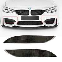 Universal Car Front Bumper Lip Fit For BMW F80 M3 CF Real Carbon Fiber Upper Side Splitter Canards Lip Front Bumper Protector
