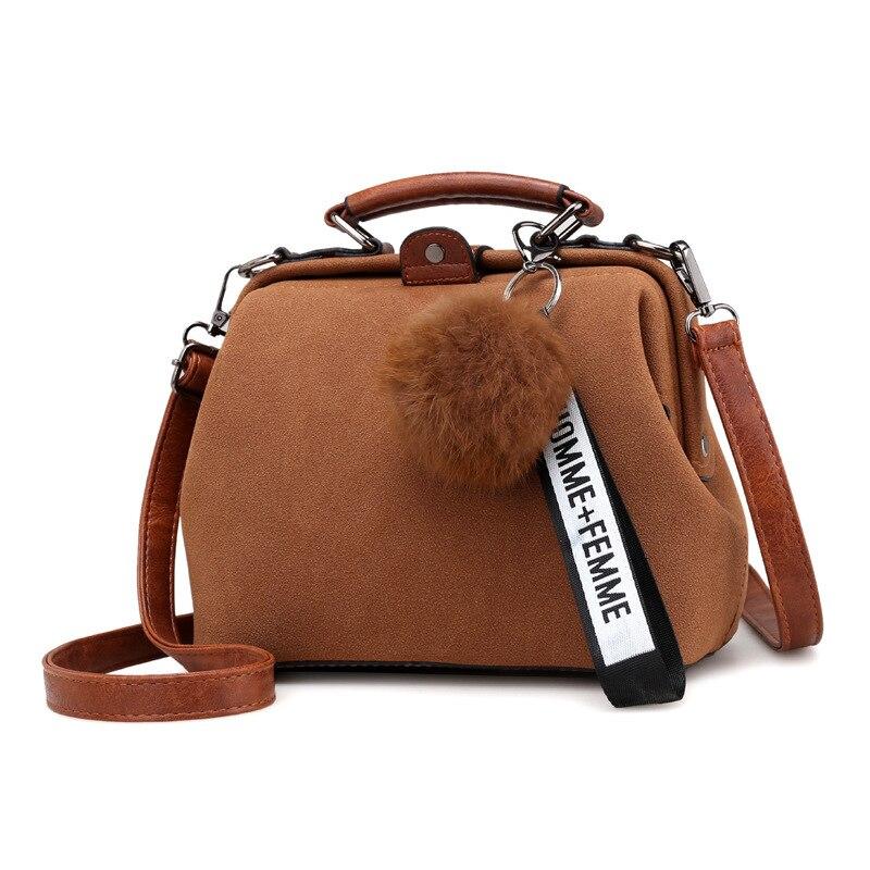 New Matte RetroDiagonal Doctor Handbag Crossbody Handbags Trend Wild Ladies Shoulder Bag Simple Messenger Soft Handle