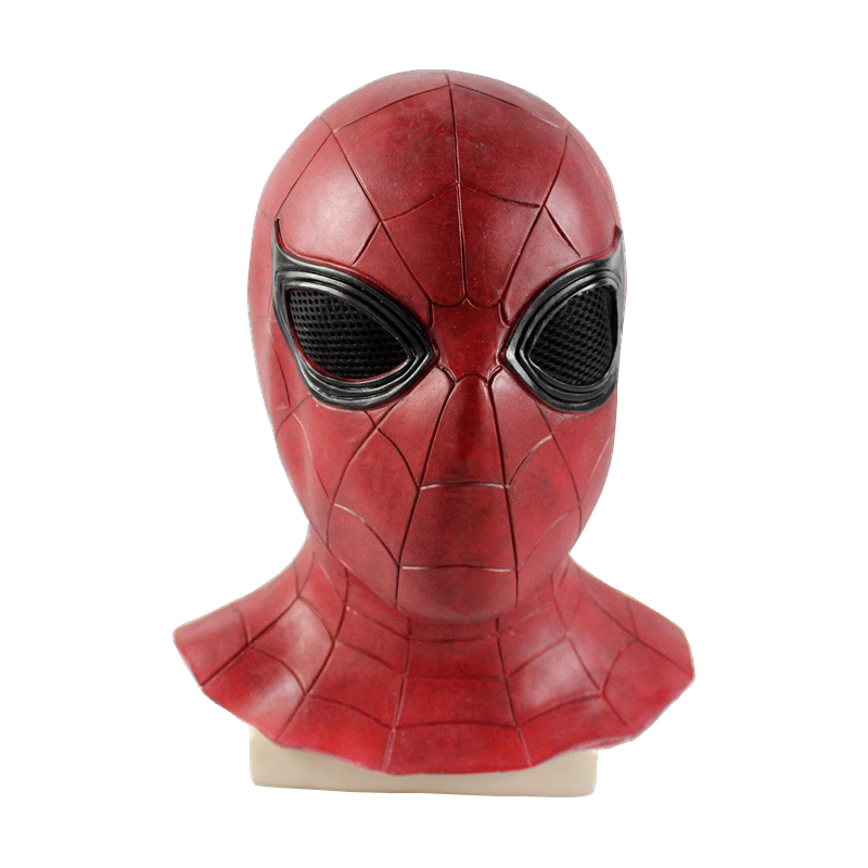 Spiderman Mask Adult Cosplay Costume Halloween Spiderman Mask Party Supplies Full Face Latex Mask Superhero